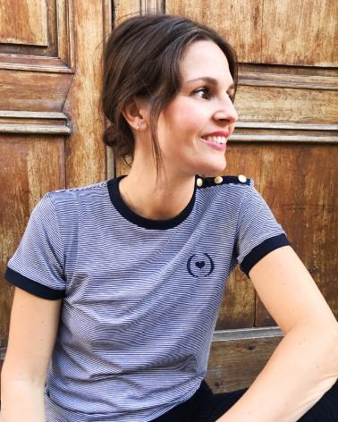 tee shirt Jane bleu